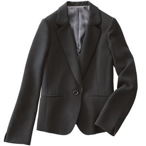 4642a2d08930a 東レ エクストラブラック使用 テーラードジャケット ブラックフォーマル 10000 円